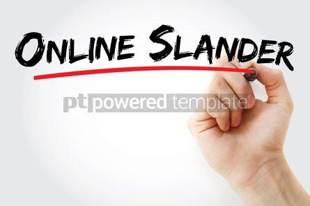 Business: Online slander text with marker #12770