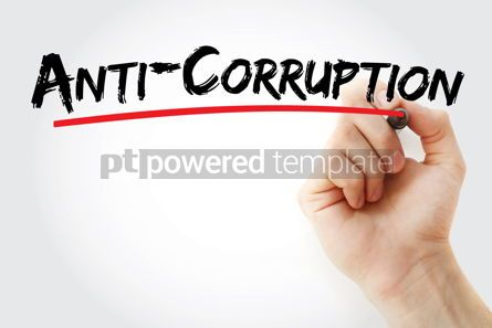Business: Anti-Corruption text with marker #12773