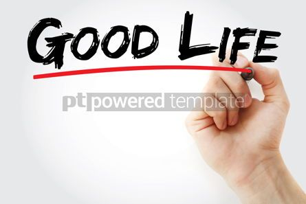 Business: Good life text with marker #12778