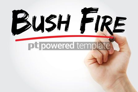 Business: Bush Fire text with marker #12788