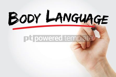 Business: Body language text with marker #12792