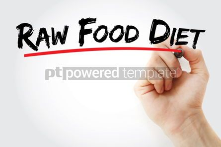 Business: Raw Food Diet text with marker #12793