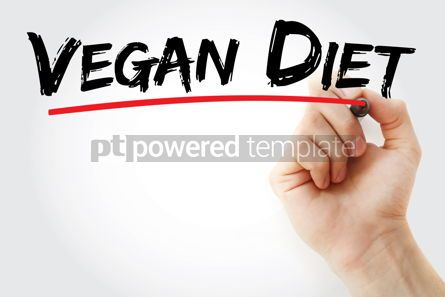 Business: Vegan Diet text with marker #12794