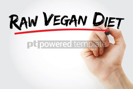 Business: Raw vegan diet text with marker #12795