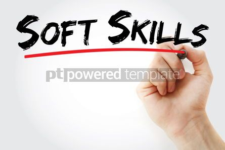 Business: Soft skills text with marker #12798