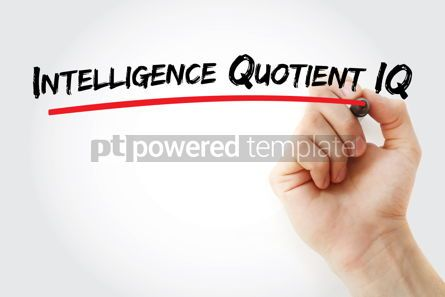 Business: Intelligence Quotient IQ text with marker #12801