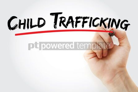 Business: Child Trafficking text with marker #12821