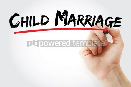 Business: Child Marriage text with marker #12822