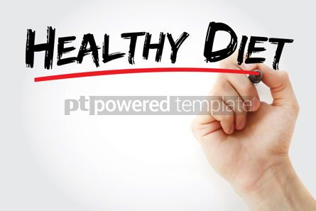 Business: Healthy Diet text with marker #12826