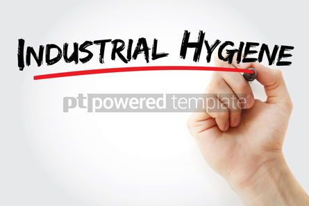 Business: Industrial Hygiene text with marker #12828