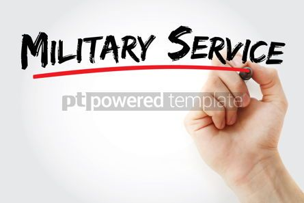 Business: Military Service text with marker #12829