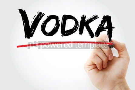 Business: Vodka text with marker #12836