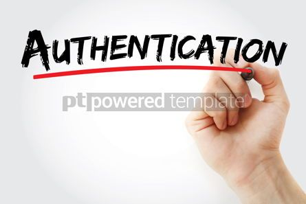 Business: Authentication text with marker #12843