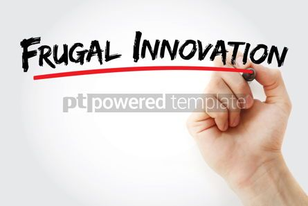 Business: Frugal Innovation text with marker #12844