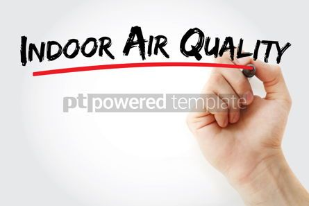 Business: indoor air quality text with marker #12852