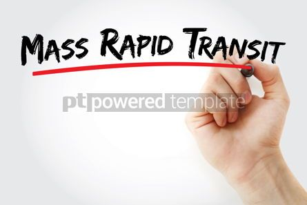Business: Mass Rapid Transit text with marker #12860
