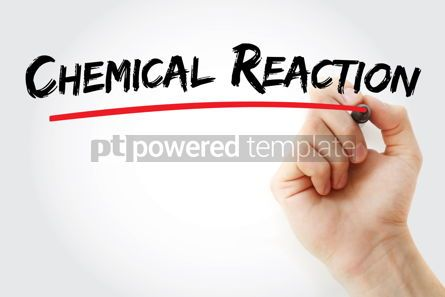 Business: Chemical reaction text with marker #12865