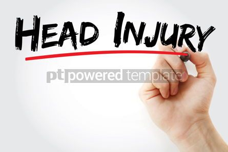 Business: Head Injury text with marker #12866