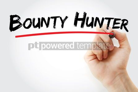 Business: bounty hunter text with marker #12877