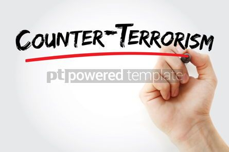 Business: Counter - terrorism text with marker #12879