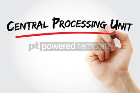 Business: Central processing unit text with marker #12880