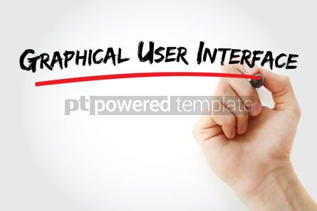Business: Graphical user interface text with marker #12881