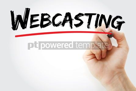 Business: Webcasting text with marker #12884