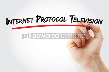 Business: Internet protocol television text with marker #12885