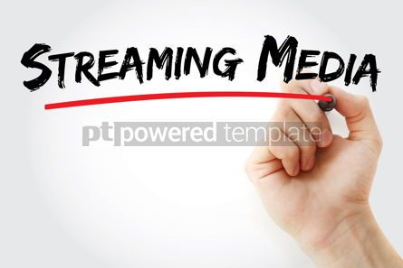 Business: Streaming media text with marker #12886