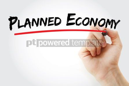 Business: Planned economy text with marker #12887