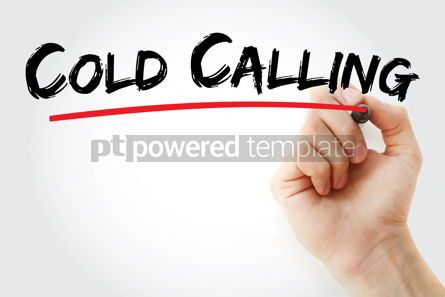 Business: Cold calling text with marker #12893