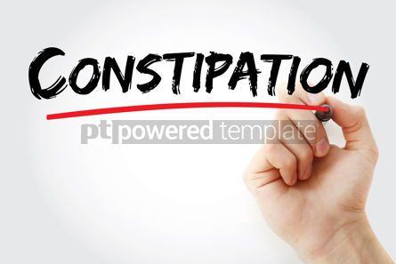 Business: Constipation text with marker #12895