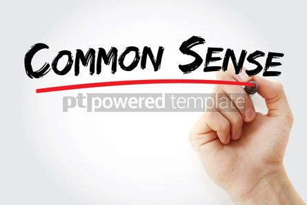 Business: Common sense text with marker #12905
