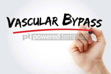 Business: Vascular Bypass text with marker #12907
