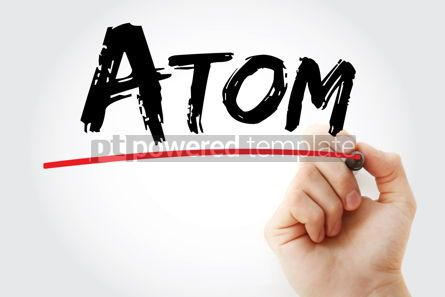 Business: Atom text with marker #12914