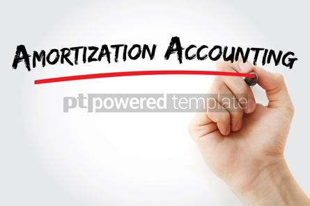Business: Amortization Accounting text with marker #12925
