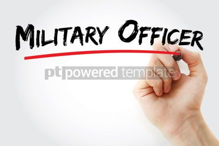 Business: Military Officer text with marker #12930