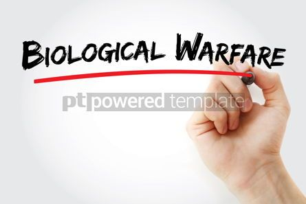Business: Biological Warfare text with marker #12932