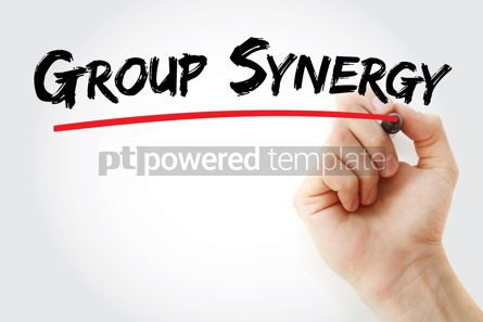 Business: Group Synergy text with marker #12934