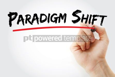 Business: Paradigm Shift text with marker #12935