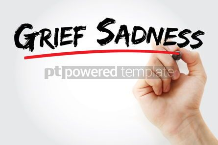 Business: Grief sadness text with marker #12939