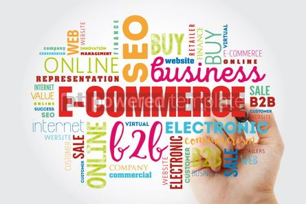 Business: E-COMMERCE word cloud collage #12961