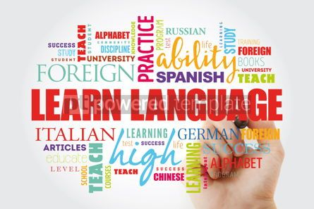 Business: Learn Language word cloud #12972