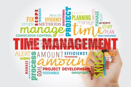 Business: Time Management word cloud collage #12989