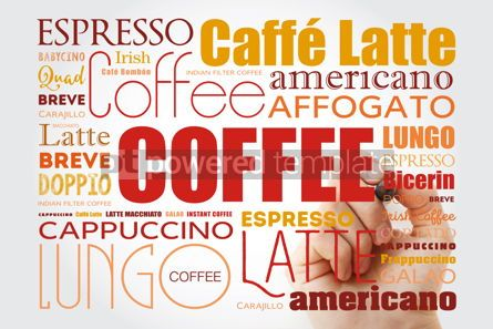 Business: List of coffee drinks words cloud collage #12990