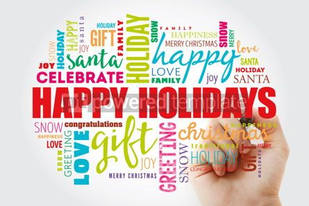 Business: Happy Holidays word cloud collage #12991
