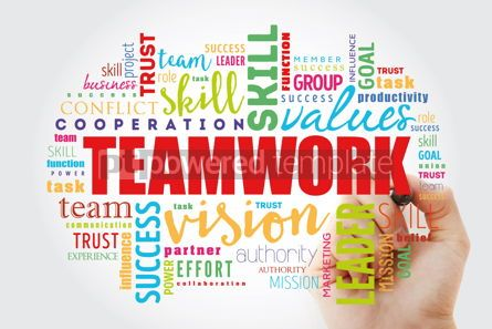 Business: Teamwork word cloud collage #12993