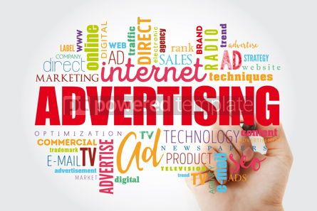 Business: ADVERTISING word cloud creative concept #13000