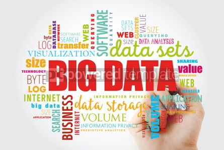 Business: Big Data word cloud collage #13003