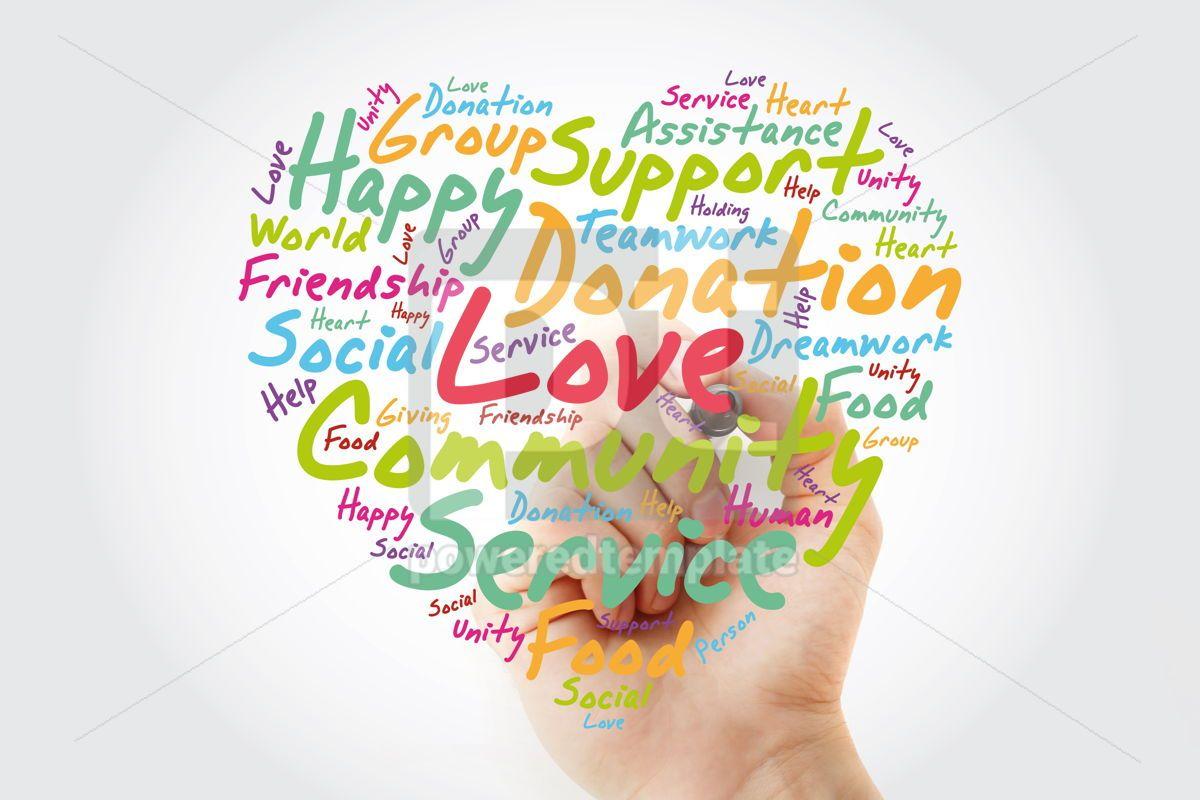 Love heart word cloud emotion marriage, 13006, Business — PoweredTemplate.com